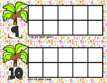 Chicka Chicka Boom Boom Ten Frames  (includes worksheet)