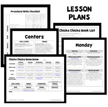 Chicka Chicka Boom Boom Theme Preschool Lesson Plans