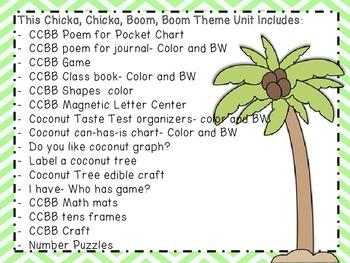 Chicka, Chicka, Boom, Boom: Theme Unit