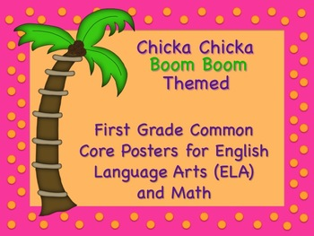 Chicka Chicka Boom Boom Themed First Grade Common Core Posters Lg. Arts & Math