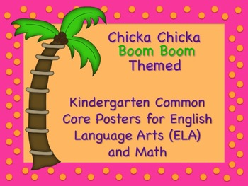 Chicka Chicka Boom Boom Themed Kindergarten Common Core Posters Lg. Arts & Math