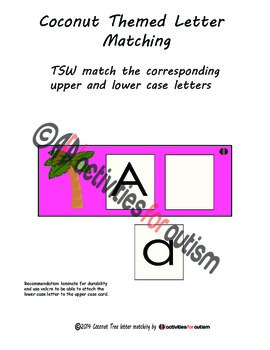 Chicka Chicka Boom Boom Themed Letter Matching Activity--A
