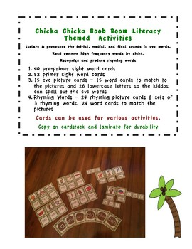 Chicka Chicka Boom Boom Themed Literacy Activities