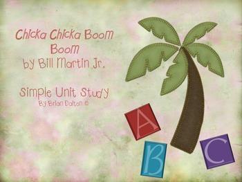 Chicka Chicka Boom Boom Unit Plan