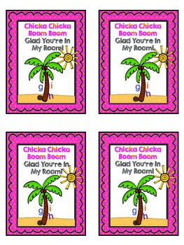 Chicka Chicka Boom Boom Welcome Cards