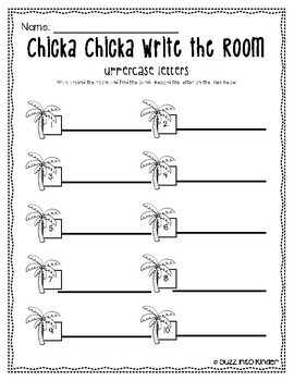 Chicka Chicka Boom Boom Write the Room