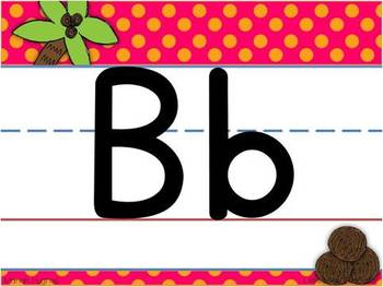 Chicka Chicka Boom Boom inspired Alphabet Line