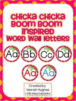 Chicka Chicka Boom Boom inspired Word Wall Letters