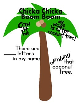 Chicka Chicka Boom Boom name tree