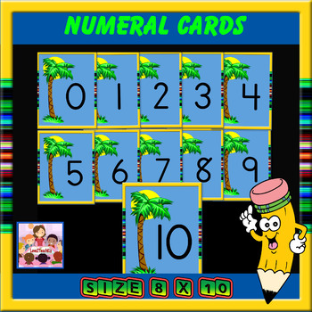 Chicka Chicka Boom Boom number cards for wall