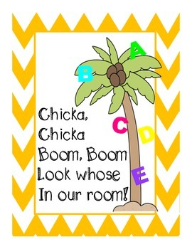 Chicka, Chicka Boom Boom primary writing book for the first days of school