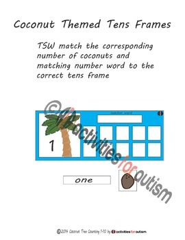 Chicka Chicka Boom Boom themed--letter matching & counting--ABA emphasis