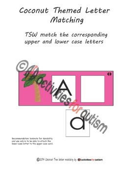 Chicka Chicka Boom Boom themed--letter matching & counting