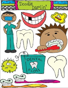 Dental Health Clipart Set