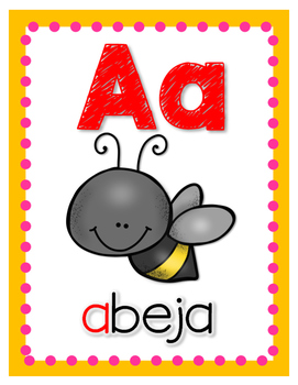 Chicka Chicka Inspired Alphabet Posters in Spanish