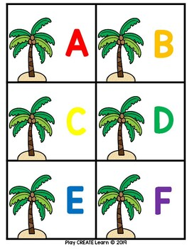Chicka Chicka Letter Identification Cards