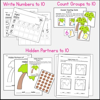 Chicka Chicka Common Core Math Centers for Kindergarten: 10 Cntrs w/ Worksheets