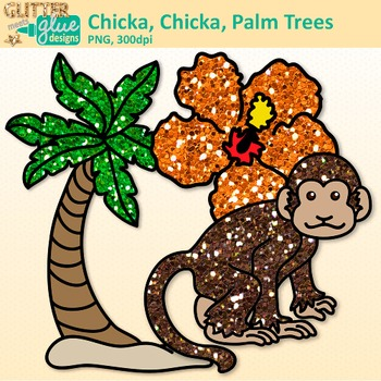 Chicka Boom Clip Art {Palm Trees, Monkey, & Flower for ELA Lessons}