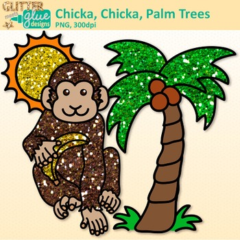 Chicka Boom Clip Art | Palm Trees, Monkey, & Flower for ELA Lessons