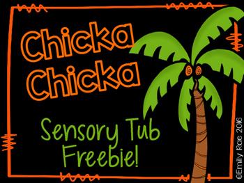 Chicka Chicka Sensory Tub Freebie