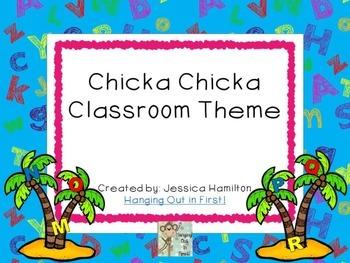Chicka Chicka Theme Decor - EDITABLE!