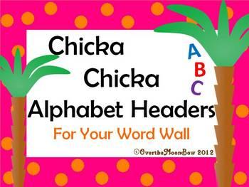 Chicka Chicka Word Wall Alphabet Headers