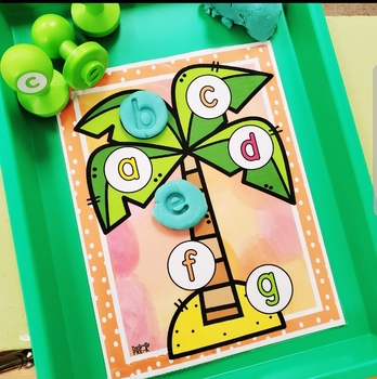 Chicka Magnetic Letter and Playdough Stamping Mats