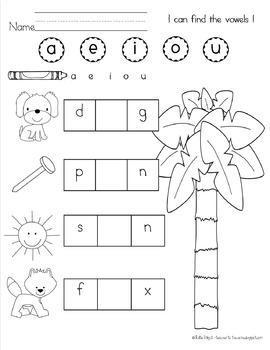 K-1 Reading Foundation Skills {CVC- Chicka-Chicka, Vowel-Vowel}