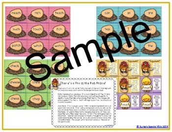 Guided Reading Printables and Literacy Center Games to Accompany Chicken Big