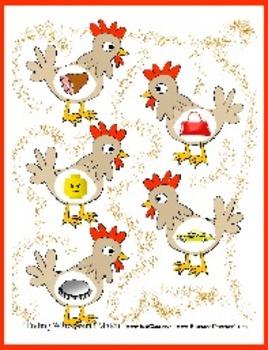 Chicken Chants Ending Sound Match - Fun for Preschoolers - File Folder Activity