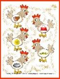 Chicken Chants Ending Sound Match - Fun for Preschoolers -
