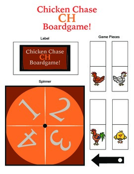 Chicken Chase CH Articulation Boardgame!