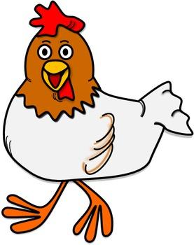 Chicken Clip Art Bundle // Charlie & Crystal Chicken Set: 62 Different Images