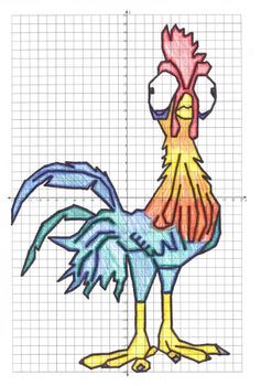 Chicken Coordinate Graphing Picture 1st Quadrant & ALL 4 Quadrants