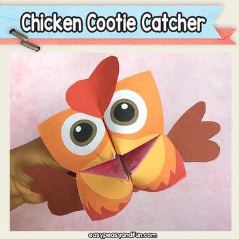 Chicken Cootie Catcher - Fortune Teller Craft