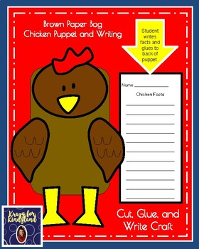 Chicken Craft and Writing: Puppet (Farm Animal Research, Spring, Autumn)