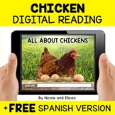 Chicken Reading Comprehension for Google Classroom