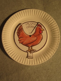 Chicken Life Cycle. Paper Plate Fun Educational Craft Art