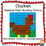 Chicken (Hen) or Rooster Hundred Chart Mystery Picture wit