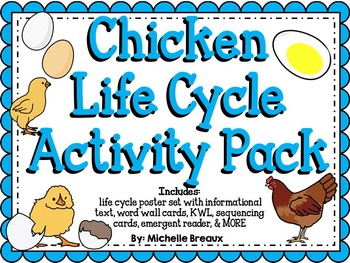 Chicken Life Cycle Activity Pack {science and literacy center printables}