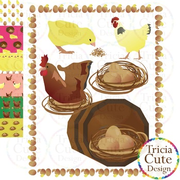 Chicken Life Cycle Clip Art Great for Chinese New Year 2017