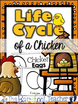 """Chicken Life Cycle """"Counting Eggs"""" Emergent Reader"""