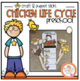Chicken Life Cycle Craft and Puppet Sticks