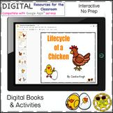 Chicken Life Cycle Activity Google Interactive Digital Worksheet Book