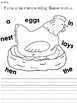 Chicken Life Cycle Egg Journal, Worksheets, and Writing Prompts