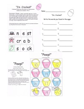 Chicken Life Cycle Eggs Common Core ELA Math PACK w/ PLANS 43 pgs