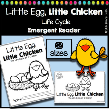 Chicken Life Cycle Emergent Reader Book Booklet