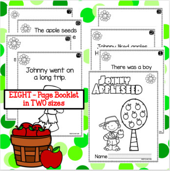 Johnny Appleseed Emergent Reader - 2 sizes (8 pages)