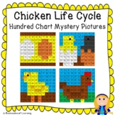 Chicken Life Cycle Hundred Chart Mystery Pictures (Egg, Hatching, Chick, Hen)