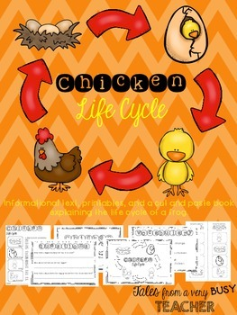 Chicken Life Cycle {Informational Text, Printables, Cut & Paste Booklet}